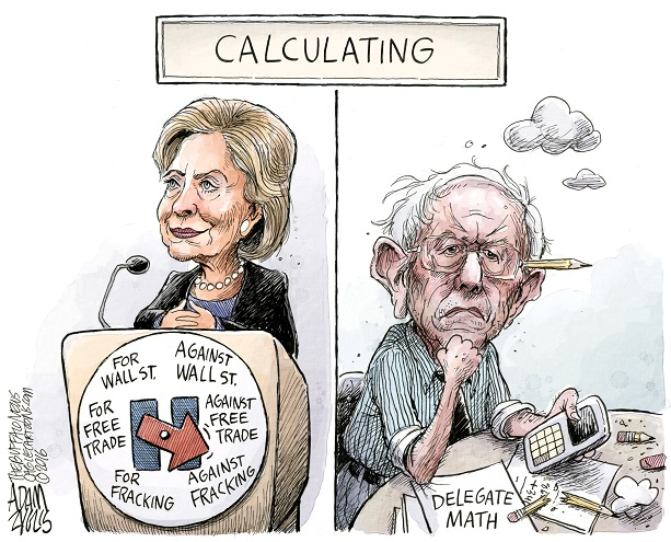 Clinton vs Bernie